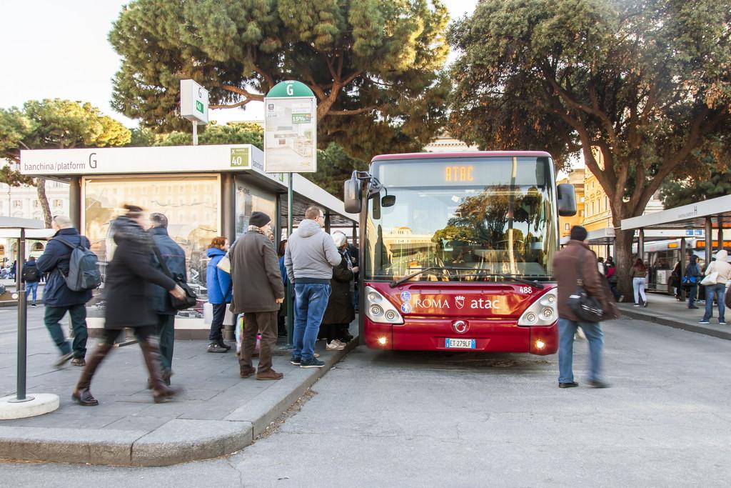 イタリアの路線バス